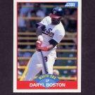 1989 Score Baseball #443 Daryl Boston - Chicago White Sox
