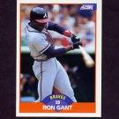 1989 Score Baseball #372 Ron Gant - Atlanta Braves