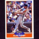1989 Score Baseball #366 Alan Ashby - Houston Astros