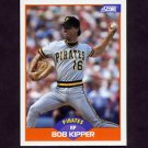 1989 Score Baseball #354 Bob Kipper - Pittsburgh Pirates