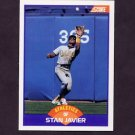 1989 Score Baseball #322 Stan Javier - Oakland A's