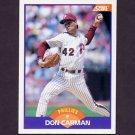 1989 Score Baseball #222 Don Carman - Philadelphia Phillies