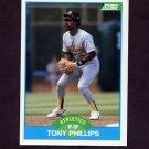 1989 Score Baseball #156 Tony Phillips - Oakland A's