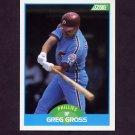 1989 Score Baseball #125 Greg Gross - Philadelphia Phillies