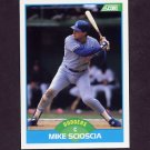 1989 Score Baseball #121 Mike Scioscia - Los Angeles Dodgers