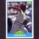 1989 Score Baseball #115 Jose DeLeon - St. Louis Cardinals
