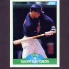 1989 Score Baseball #107 Mark Davidson - Minnesota Twins