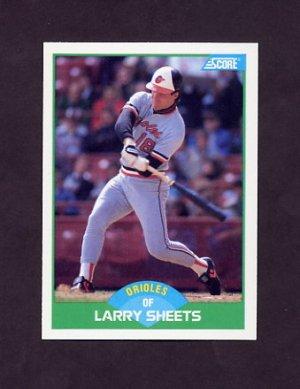 1989 Score Baseball #081 Larry Sheets - Baltimore Orioles