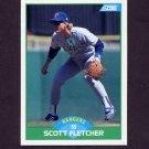 1989 Score Baseball #078 Scott Fletcher - Texas Rangers