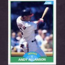 1989 Score Baseball #046 Andy Allanson - Cleveland Indians