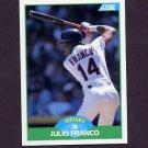 1989 Score Baseball #011 Julio Franco - Cleveland Indians