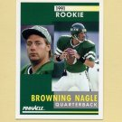 1991 Pinnacle Football #321 Browning Nagle RC - New York Jets