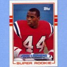 1989 Topps Football #194 John Stephens RC - New England Patriots