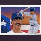 1993 Upper Deck Baseball #831 Texas Rangers Team Checklist / Juan Gonzalez