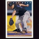 1993 Upper Deck Baseball #752 Steve Reed RC - Colorado Rockies