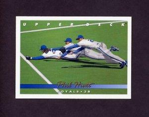 1993 Upper Deck Baseball #645 Phil Hiatt - Kansas City Royals