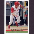 1993 Upper Deck Baseball #642 Jeff Branson - Cincinnati Reds
