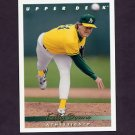 1993 Upper Deck Baseball #636 Kelly Downs - Oakland A's