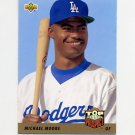 1993 Upper Deck Baseball #430 Michael Moore RC - Los Angeles Dodgers