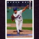 1993 Upper Deck Baseball #380 Brian Bohanon - Texas Rangers