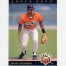 1993 Upper Deck Baseball #005 Manny Alexander - Baltimore Orioles