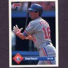 1993 Donruss Baseball #727 Tom Foley - Montreal Expos