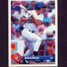 1993 Donruss Baseball #706 David Hulse RC - Texas Rangers