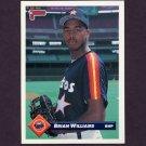 1993 Donruss Baseball #692 Brian Williams - Houston Astros