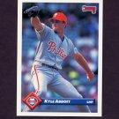 1993 Donruss Baseball #676 Kyle Abbott - Philadelphia Phillies
