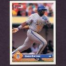 1993 Donruss Baseball #657 Chris Gwynn - Kansas City Royals
