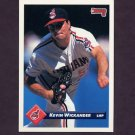 1993 Donruss Baseball #389 Kevin Wickander - Cleveland Indians