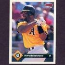 1993 Donruss Baseball #373 Dave Henderson - Oakland A's
