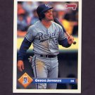 1993 Donruss Baseball #307 Gregg Jefferies - Kansas City Royals