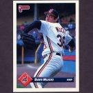 1993 Donruss Baseball #273 Dave Mlicki - Cleveland Indians
