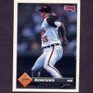1993 Donruss Baseball #265 Richie Lewis RC - Baltimore Orioles