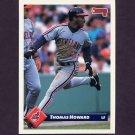1993 Donruss Baseball #257 Thomas Howard - Cleveland Indians