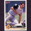 1993 Donruss Baseball #252 Jeff King - Pittsburgh Pirates