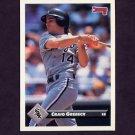 1993 Donruss Baseball #199 Craig Grebeck - Chicago White Sox