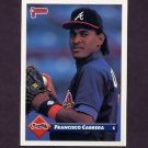 1993 Donruss Baseball #184 Francisco Cabrera - Atlanta Braves