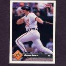 1993 Donruss Baseball #163 Glenn Davis - Baltimore Orioles