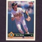 1993 Donruss Baseball #109 Walt Weiss - Oakland A's