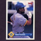 1993 Donruss Baseball #103 Greg Vaughn - Milwaukee Brewers