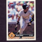 1993 Donruss Baseball #070 Alex Cole - Pittsburgh Pirates