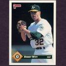 1993 Donruss Baseball #051 Bobby Witt - Oakland A's