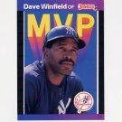 1989 Donruss Baseball Bonus MVP's #BC11 Dave Winfield - New York Yankees