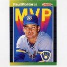 1989 Donruss Baseball Bonus MVP's #BC09 Paul Molitor - Milwaukee Brewers