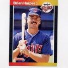 1989 Donruss Baseball #641 Brian Harper - Minnesota Twins
