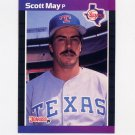 1989 Donruss Baseball #636 Scott May - Texas Rangers