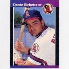 1989 Donruss Baseball #634 Dante Bichette RC - California Angels