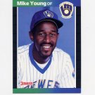1989 Donruss Baseball #632 Mike Young - Milwaukee Brewers